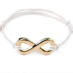 Feshionn IOBI bracelets White Infinity Friendship Bracelet -Choose your Color