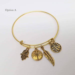 Feshionn IOBI bracelets Your Golden Charms Bangle Bracelet