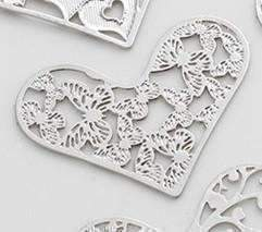 Feshionn IOBI Charms Butterfly Hearts Cut Out Plate for Heart Charm Locket Necklaces ~ Choose Your Theme!