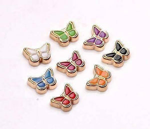 Feshionn IOBI Charms Colorful Enamel Butterfly Free Floating Charm for Charm Locket Necklaces ~ Choose Your Color