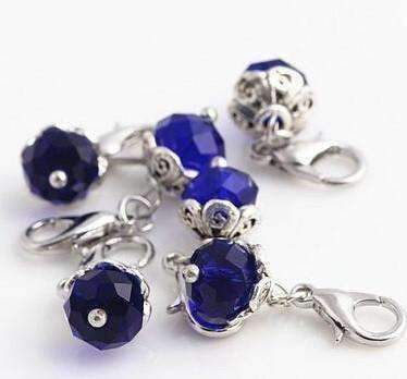 Feshionn IOBI Charms Aqua Dangling Bead Accent Crystals for Story of My Life Charm Lockets 5mm - 11 Colors to Choose!!