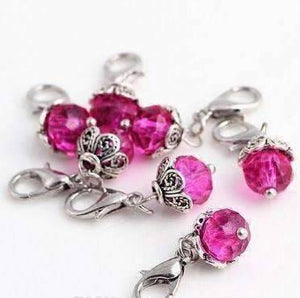 Feshionn IOBI Charms Dangling Bead Accent Crystals for Story of My Life Charm Lockets 5mm - 11 Colors to Choose!!