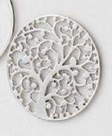 Feshionn IOBI Charms Family Tree Round Cut Out Plate for Round Charm Locket Necklaces ~Choose Your Theme!