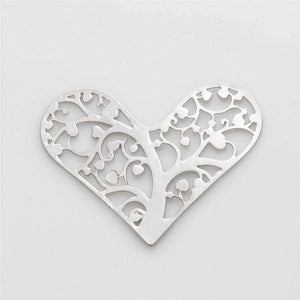 Feshionn IOBI Charms Hearts Cut Out Plate for Heart Charm Locket Necklaces ~ Choose Your Theme!