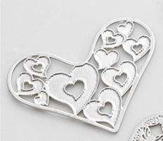 Feshionn IOBI Charms Pop Hearts Hearts Cut Out Plate for Heart Charm Locket Necklaces ~ Choose Your Theme!