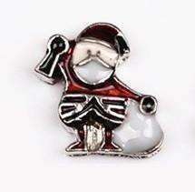 Feshionn IOBI Charms Santa Holiday Collection Free Floating Charms for Charm Locket Necklaces
