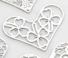 Feshionn IOBI Charms Shamrock Hearts Cut Out Plate for Heart Charm Locket Necklaces ~ Choose Your Theme!