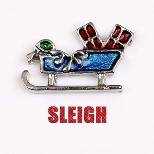 Feshionn IOBI Charms Sleigh Holiday Collection Free Floating Charms for Charm Locket Necklaces