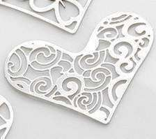 Feshionn IOBI Charms Waves Hearts Cut Out Plate for Heart Charm Locket Necklaces ~ Choose Your Theme!