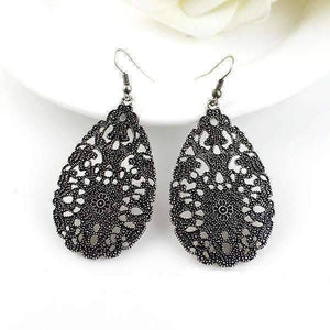 "Feshionn IOBI Earrings Black ""Ancient Artifacts"" Earrings in Black or Silver"