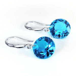 Feshionn IOBI Earrings Blue Topaz / 10mm Naked IOBI Crystals Drill Earrings - The Exotic Collection by Feshionn IOBI