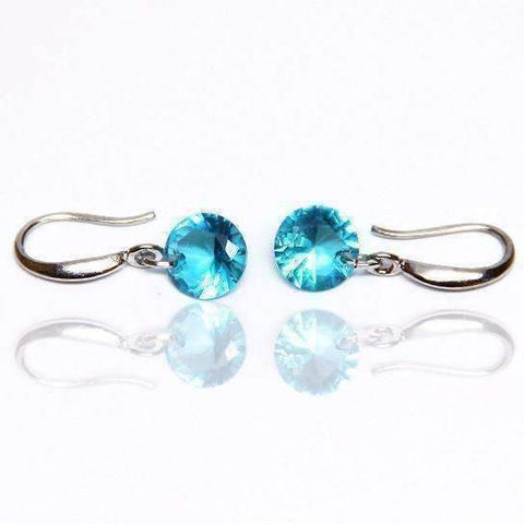 Feshionn IOBI Earrings Blue Topaz / 8mm Naked IOBI Crystals Drill Earrings - The Exotic Collection by Feshionn IOBI