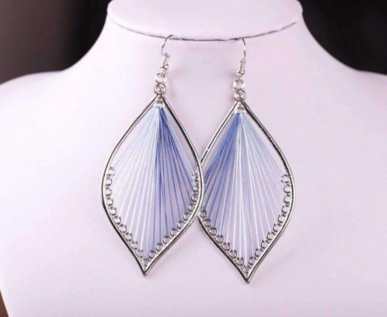 drop silk in colors feshionn thread products string global iobi beauty blues art three earrings