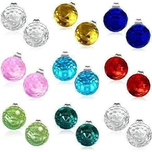 Feshionn IOBI Earrings CLEARANCE - Disco Ball Faceted Crystal Stud Earrings - Eight Colors!