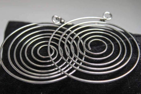 Feshionn IOBI Earrings CLEARANCE - Ripple Effect Stainless Steel Wire Round Swirl Earrings