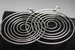 Ripple Effect Stainless Steel Wire Round Swirl Earrings