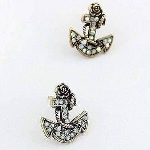 Feshionn IOBI Earrings CLEARANCE - Sunken Treasure Anchor Stud earrings