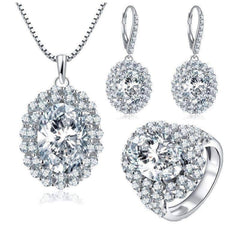 Countess 4CT Oval Double Halo IOBI Cultured Diamond Earrings