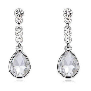 Feshionn IOBI Earrings Diamond Clear IOBI Crystals Dew Drop Earrings - Choose Your Color
