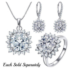 Duchess 4CT Cushion Cut Floral Halo IOBI Cultured Diamond Earrings