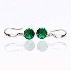 Feshionn IOBI Earrings Emerald / 8mm Naked IOBI Crystals Drill Earrings - The Exotic Collection by Feshionn IOBI