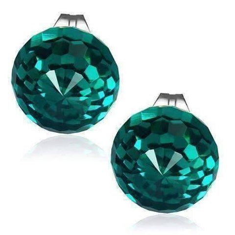 Feshionn IOBI Earrings Emerald CLEARANCE - Disco Ball Faceted Crystal Stud Earrings - Eight Colors!