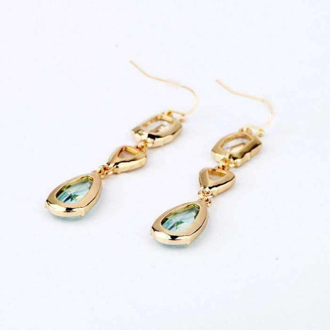 "Feshionn IOBI Earrings ""Evelyn"" Crystal Drop Earrings"