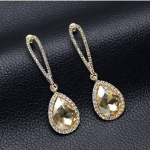 Feshionn IOBI Earrings Evening Splendor Austrian Crystal Drop Earrings in Three Elegant Colors