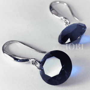 Feshionn IOBI Earrings Exotic Sapphire Exotic Sapphire Naked IOBI Crystals Drill Earrings - 10mm