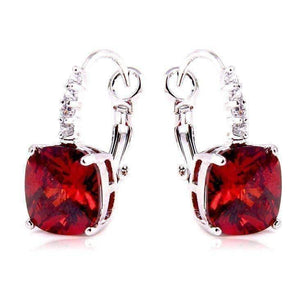 Feshionn IOBI Earrings Fire Red Pure - IOBI Crystals Fire Red Color Drop Earrings