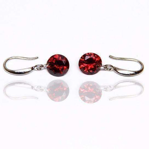 Feshionn IOBI Earrings Garnet / 8mm Naked IOBI Crystals Drill Earrings - The Exotic Collection by Feshionn IOBI
