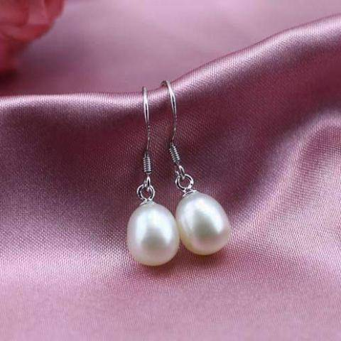 Feshionn IOBI Earrings Genuine Freshwater Pearl Drop Earrings