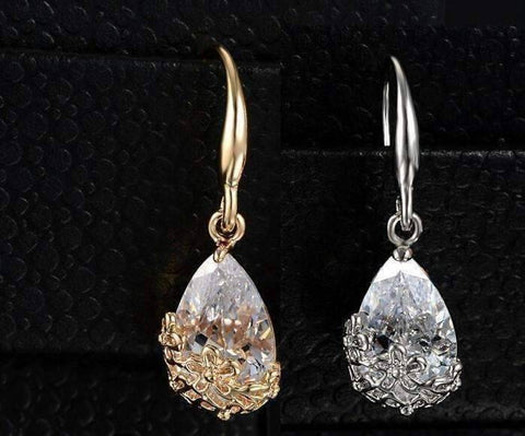 Feshionn IOBI Earrings GET BOTH - DISCOUNTED ON SALE - Infused Diamond Dust Dangling Earrings