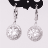 Image of Feshionn IOBI Earrings Glorious Halo 2.4CTW  Swiss CZ Drop Hoop Earrings