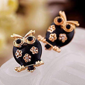 Feshionn IOBI Earrings Gold Hoot Hoot Owl Earrings