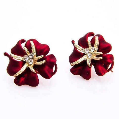 Feshionn IOBI Earrings Golden Blossoms Shimmering Stud Earrings