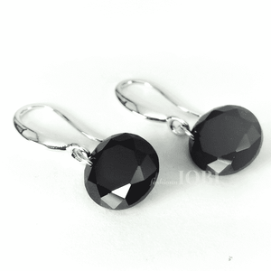 Feshionn IOBI Earrings Hematite Black / 10mm Naked IOBI Crystals Drill Earrings - The Exotic Collection by Feshionn IOBI