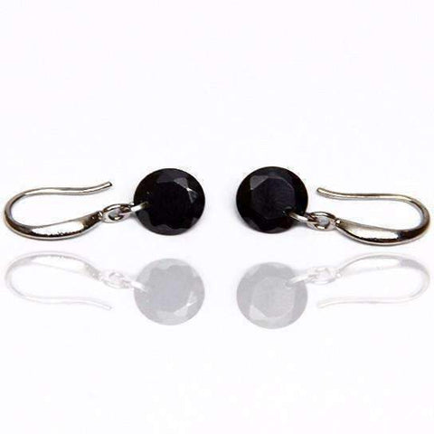 Feshionn IOBI Earrings Hematite Black / 8mm Naked IOBI Crystals Drill Earrings - The Exotic Collection by Feshionn IOBI