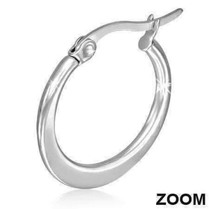 Feshionn IOBI Earrings Highly Polished Stainless Steel Classic Hoop Earrings Available in Two Sizes