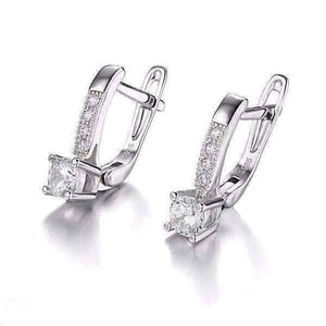 Feshionn IOBI Earrings Irresistible 1CTW Cubic Zirconia Sterling Silver Drop Earrings