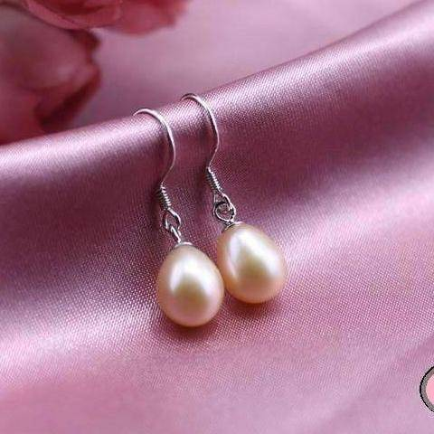 Feshionn IOBI Earrings Light Rose Genuine Freshwater Pearl Drop Earrings