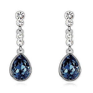 Feshionn IOBI Earrings Midnight Blue IOBI Crystals Dew Drop Earrings - Choose Your Color