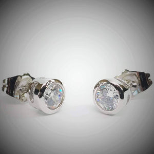Feshionn IOBI Earrings ON SALE - Bezel IOBI Crystals Stud Earrings