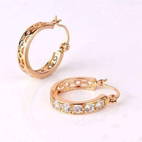 Feshionn IOBI Earrings ON SALE - Channel Set CZ and Filigree Hoop Earrings