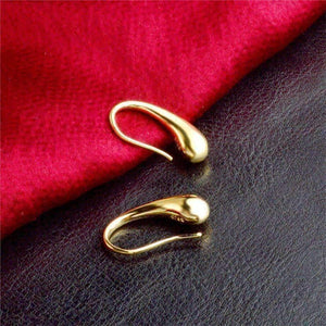 Feshionn IOBI Earrings ON SALE - Chic Tear Drop Silver or Gold Hook Earrings