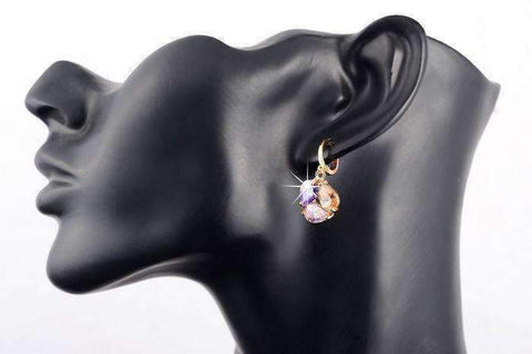 Feshionn IOBI Earrings ON SALE - Crystal Cluster Dangling Charm Earrings