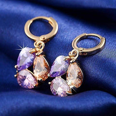 ON SALE - Crystal Cluster Dangling Charm Earrings