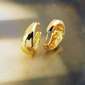 Feshionn IOBI Earrings ON SALE - Gold Bold Huggie Hoop Earrings