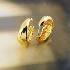 ON SALE - Gold Bold Huggie Hoop Earrings