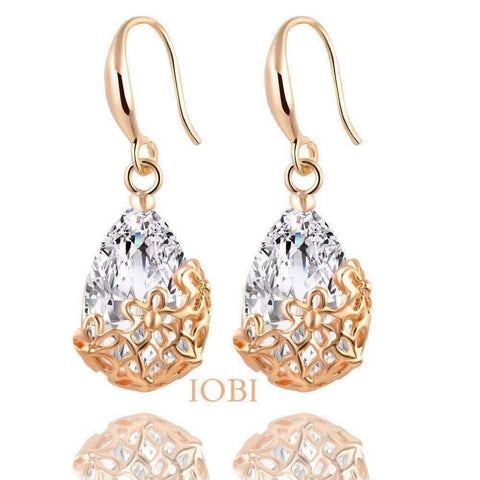 Feshionn IOBI Earrings ON SALE - Infused Diamond Dust Dangling Earrings